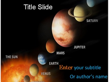 Solar System PPT Template