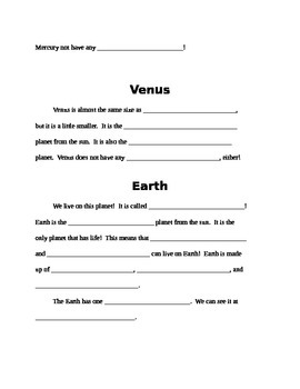Solar System Packet