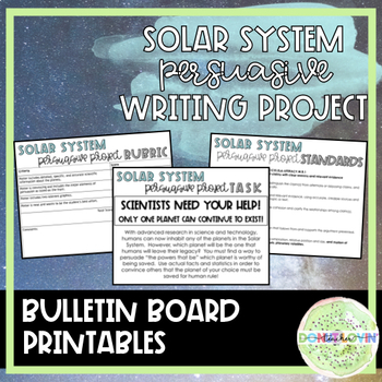 Solar System Persuasive Project **Common Core Aligned**