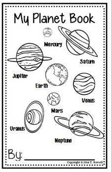 Solar System Planet Book Activity