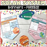Solar System Planet Classroom Decor Banners FREE