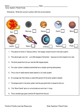 Solar System: Planet Facts