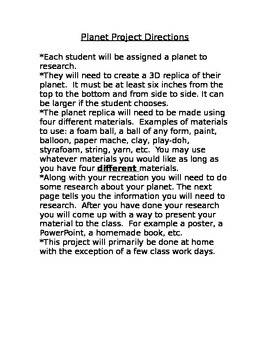 Solar System Planet Replica Project