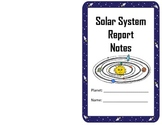 Solar System Planet Report