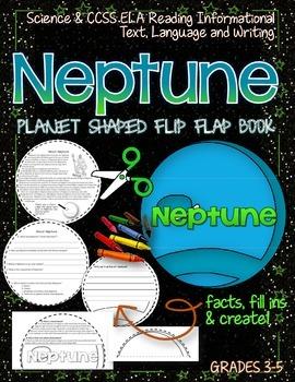 SOLAR SYSTEM: PLANET SHAPED FLIP BOOK {NEPTUNE}