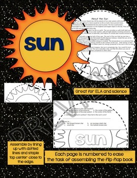 SOLAR SYSTEM: PLANET SHAPED FLIP BOOK {THE SUN}