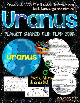 SOLAR SYSTEM: PLANET SHAPED FLIP BOOK  {URANUS}