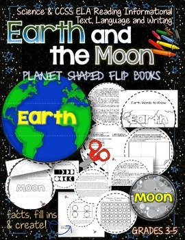 SOLAR SYSTEM: PLANET SHAPED FLIP BOOKS {EARTH AND THE MOON}