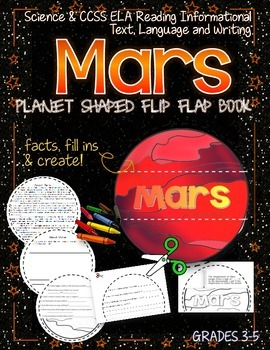 SOLAR SYSTEM: PLANET SHAPED FLIP BOOK  {MARS}
