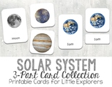 Solar System - Planets - 3-Part Montessori-Inspired Card Set