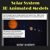 Solar System Planets 3D Graphics for Whiteboards and Smartboards