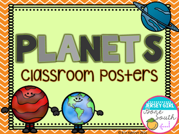 Solar System - Planets Classroom Posters