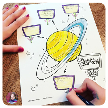 Planets Solar System Coloring Activities and Notes
