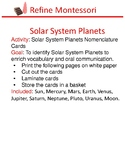 Solar System Planets Nomenclature Cards