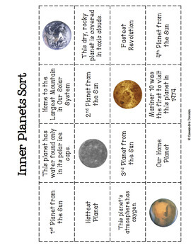 Solar System Activity: Planets Sorts (3) *Freebie*