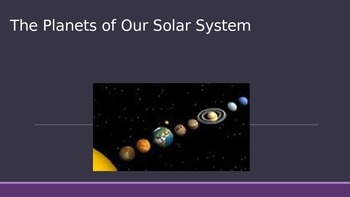 Solar System Planets and Belts