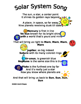 solar system song for preschoolers - photo #8