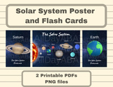 Solar System Poster and Flash Cards - Astronomy and Outer Space - by AllDayABA