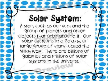 Solar System Posters - Pack of 19