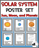 Solar System Science Word Wall Posters - Sun Moon Planets