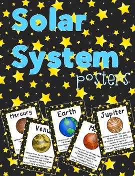 Solar System Posters or Book: All Planets, Moon & Sun