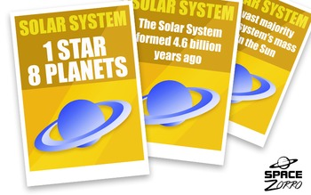 Solar System Posters x 8