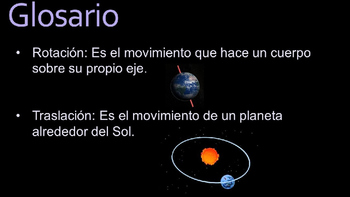 Solar System Power Point Presentation (Spanish)