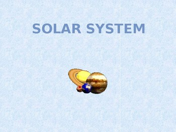 Solar System PowerPoint Presentation - Science