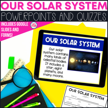 Solar System PowerPoint Lessons and Quizzes