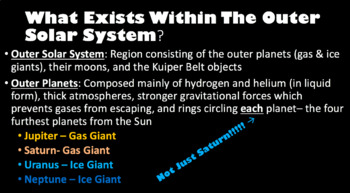 Solar System Presentation Set (PowerPoints & Graphic Organizer)