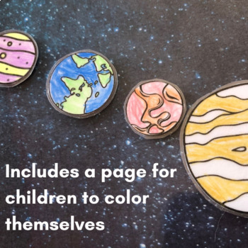 Solar System Printable - 8 Planet Coloring Sheets
