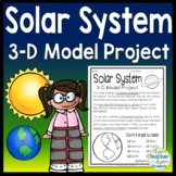 Solar System Project: 3-D Model of the Planets with Glossary & Summary too!