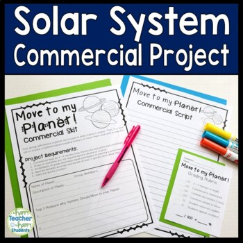 Solar System Project: Create a Commercial Skit: Move to My Planet!