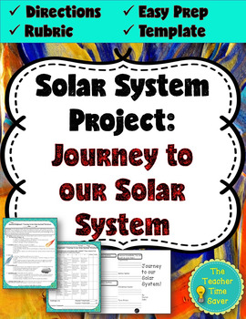 """Solar System Project: """"Journey to our Solar System"""" Brochure (editable template)"""