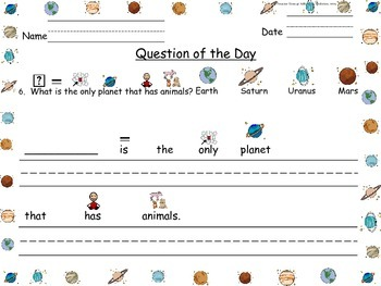 Solar System ~ Question of the Day