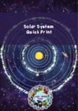 Solar System Quick Print