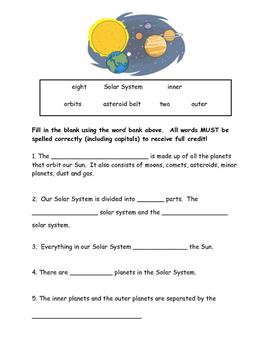 Solar System Quiz.