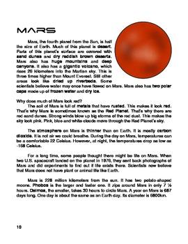 Solar System - Reading