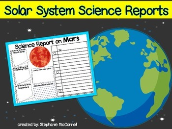 Solar System Reports Made Easy-Freebie