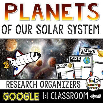 Solar System Research Organizers: GOOGLE CLASSROOM