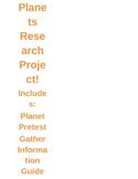 Solar System Research Project Bundle
