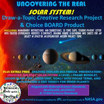 Draw-a-Topic to UnCOVERtheREAL SolarSystem CreativeResearch&ChoiceBOARDProduct
