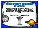 Solar System Research QR Codes