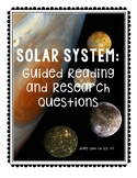 Solar System Research and Reading Guide - SOL 4.7