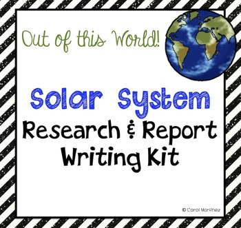 Solar System Research and Report Writing Kit