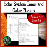 Solar System Review Crossword Puzzle