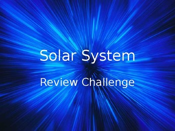 Solar System Review Game
