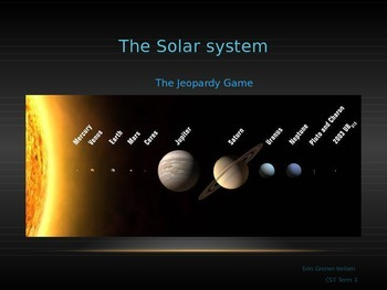 Solar System Review Game Jeopardy