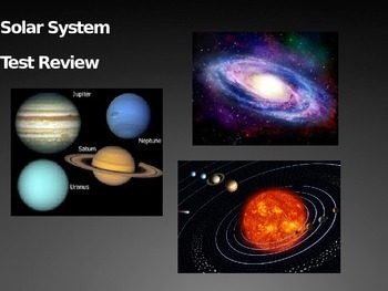 Solar System Review PowerPoint for 6th grade