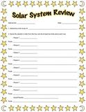 Solar System Review Worksheet